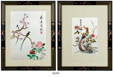 THREE CHINESE SILK EMBROIDERIE