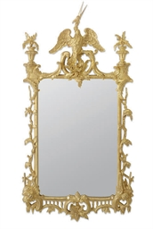 A CARVED GILTWOOD PIER-MIRROR