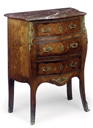 A FRENCH KINGWOOD MARQUETRY-IN