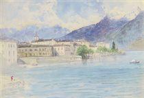 Lake Como, Menaggio (illustrated); and Lake Como from above Lenno