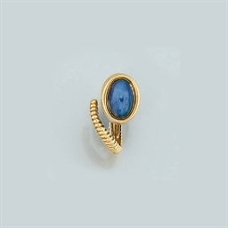 A Sapphire Single Stone Ring,