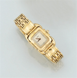 A lady's 18ct. gold quartz