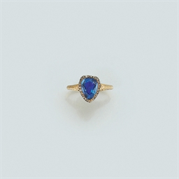 A 19th century gold, sapphire