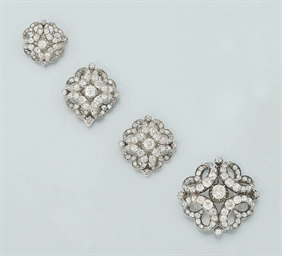 A group of Victorian diamond b