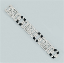 A diamond and oynx bracelet