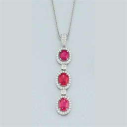 A red spinel and diamond penda