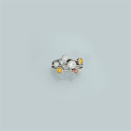 An 18ct. white gold, diamond a