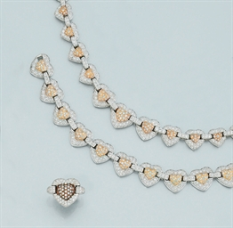 A suite of diamond jewellery