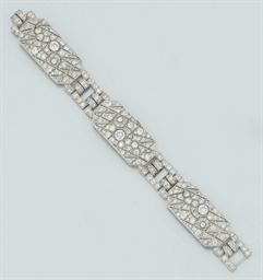 An Art deco platinum and diamo