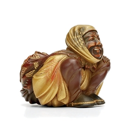 A Lacquered-Wood Netsuke
