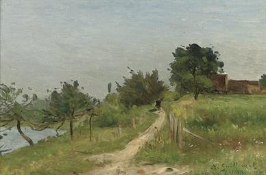 Chemin au bord du lac