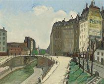 Le pont au canal de la Villette, Paris