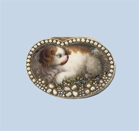 AN ANTIQUE FRENCH GOLD AND ENAMEL SNUFF-BOX