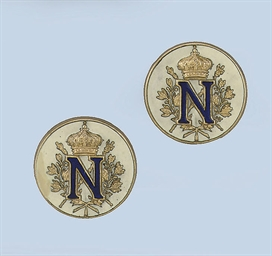 A PAIR OF ENAMEL NAPOLEONTIC C