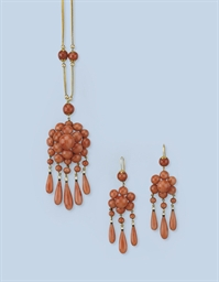A SUITE OF CORAL JEWELLERY
