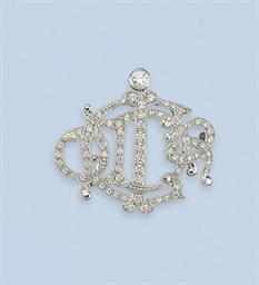A DIAMOND BROOCH, BY CHRISTIAN