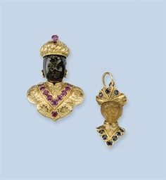 TWO GEM SET PENDANTS, BY NARDI