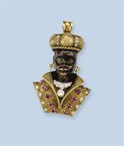 A GEM SET AND DIAMOND PENDANT, BY MISSIAGLIA