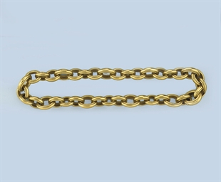 A GOLD LINK NECKLACE, BY BARRY