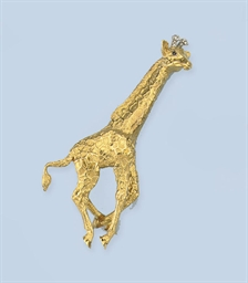 A GIRAFFE BROOCH, BY TIFFANY &