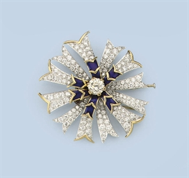 A DIAMOND BROOCH, BY JEAN SCHL