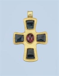 TWO GEM SET CROSS PENDANTS