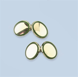 THREE PAIRS OF CUFF LINKS, BY