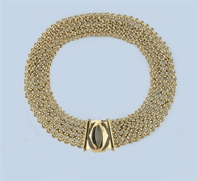 A GOLD NECKLACE, BY CARTIER