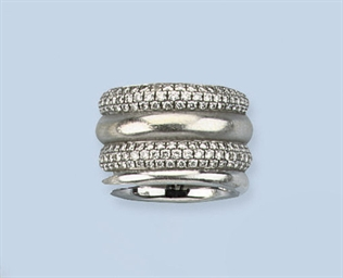 A DIAMOND BAND RING, BY POMELL