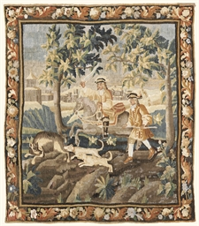 A LOUIS XIV HUNTING TAPESTRY