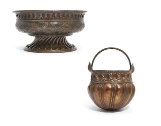 A REPOUSSE COPPER BASIN AND BU