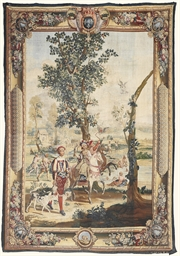 A ROYAL LOUIS XV ALLEGORICAL T
