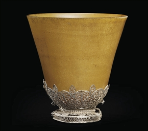 A SILVER FILIGREE-MOUNTED RHIN