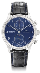 IWC. A large stainless steel l