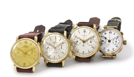 A lot of four gold chronograph