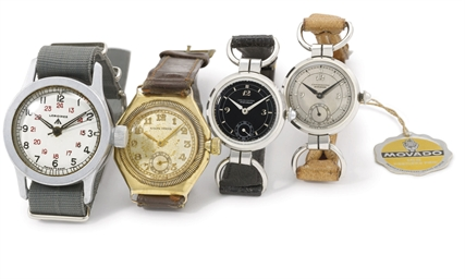 A lot of five wristwatches