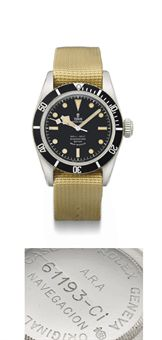 Tudor. A fine and rare stainless steel automatic wristwatch with sweep centre seconds, supplied to the Argentine Navy