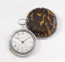 George Prior. A fine silver triple case verge watch, made for the Turkish Market