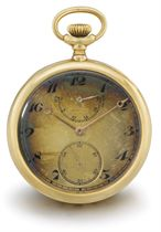 H.R. Ekegren, made by Ed. Koehn. An 18K gold openface keyless lever watch with power reserve, guillaume balance and Breguet numerals