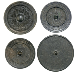 FOUR BRONZE MIRRORS, HAN DYNAS