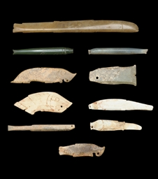 TEN EARLY JADE FISH PEDAANTS,