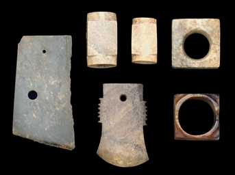 FOUR JADE CONG TOGETHER WITH A