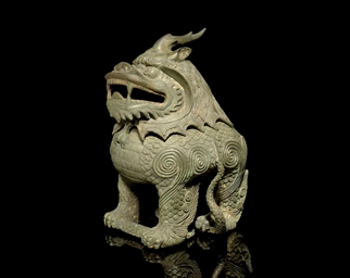 A BRONZE QILIN CENSER, 16TH/17