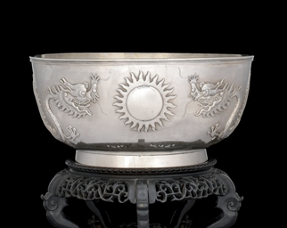 A SILVER EXPORT BOWL, MAKER CU