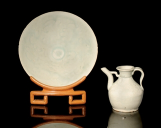 A QINGBAI CONICAL BOWL AND A S