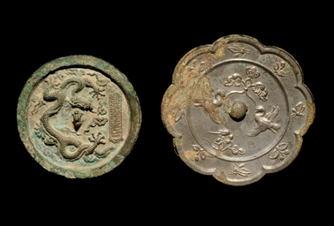 TWO BRONZE MIRRORS, TANG DYNAS