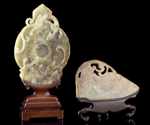 TWO JADE CARVINGS, 17TH CENTUR