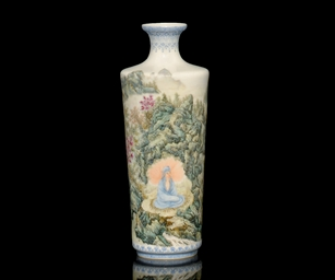 A FAMILLE ROSE VASE, FIRST HAL