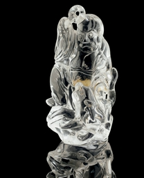 A ROCK CRYSTAL MODEL OF A MONK