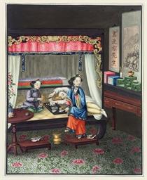 Six album leaves, 19th century